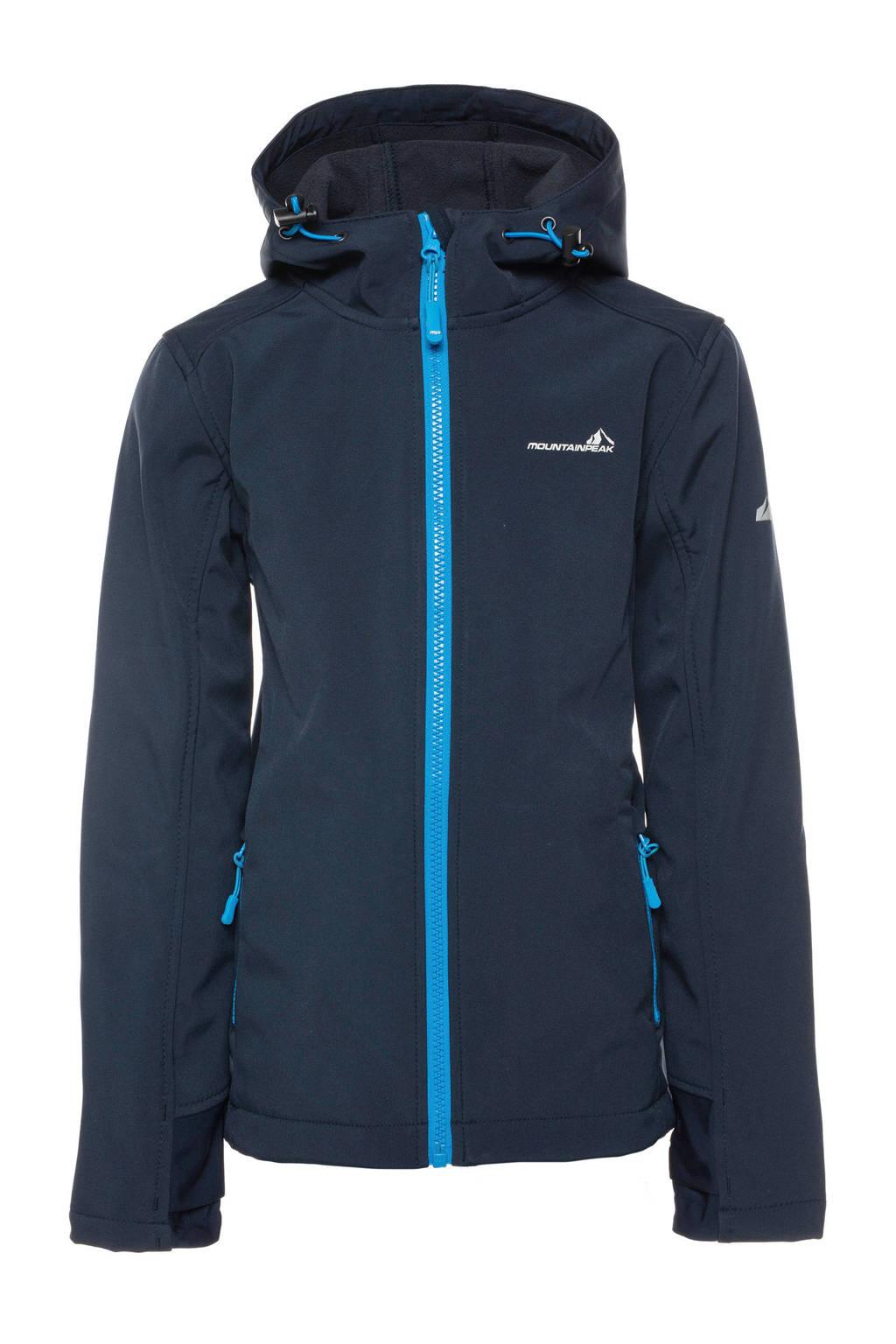 Scapino Mountain Peak   softshell jack donkerblauw, Donkerblauw