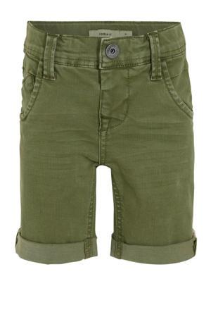 jeans bermuda Sofus donkergroen