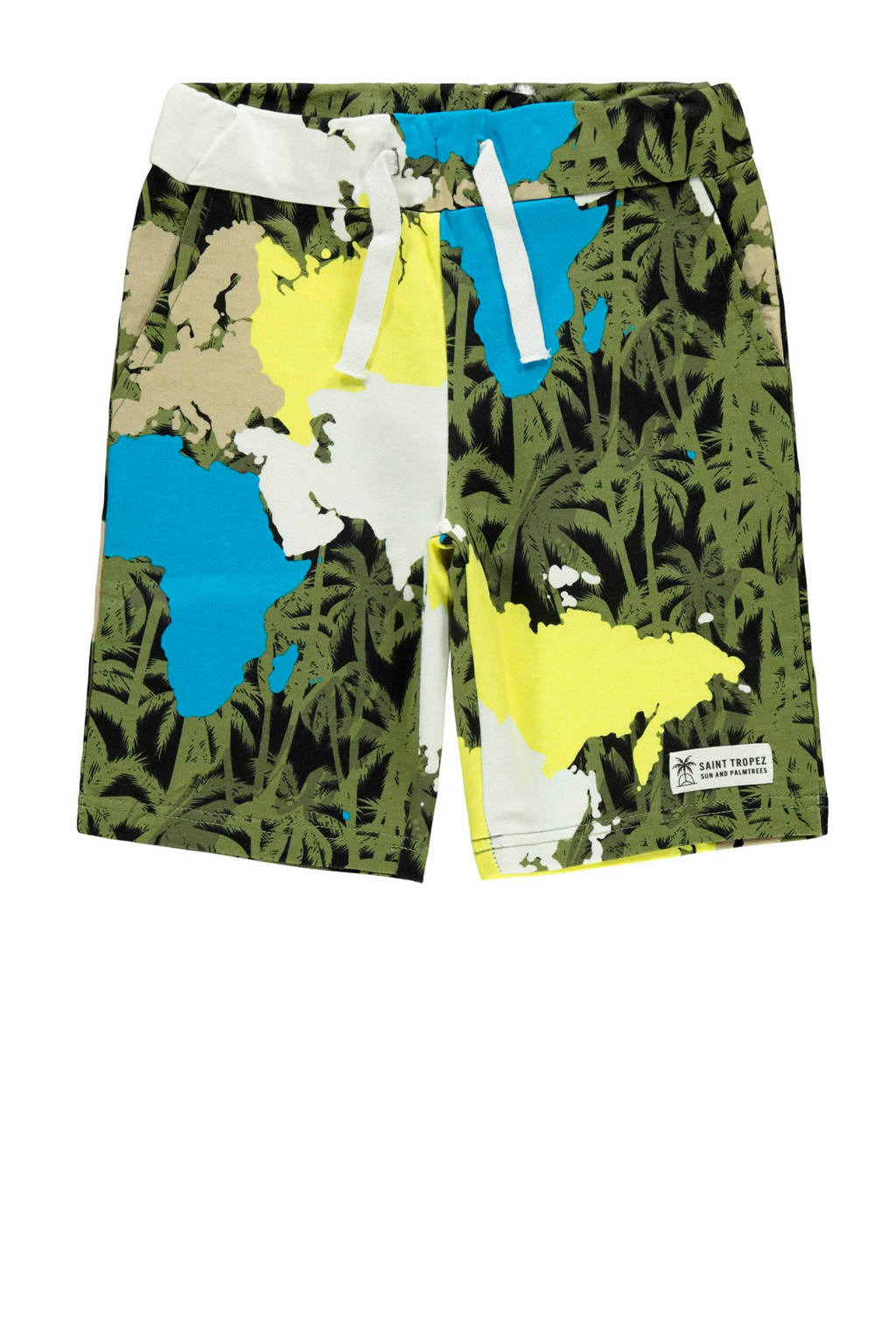 NAME IT KIDS sweatshort Florida met biologisch katoen multi, Groen/geel/blauw