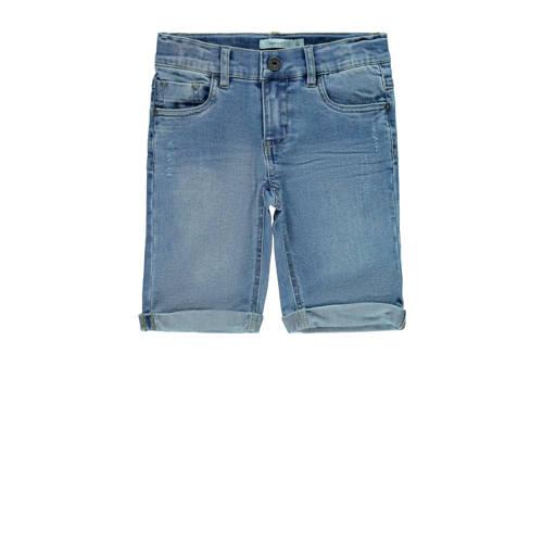 NAME IT KIDS slim fit jeans bermuda Sofus light bl