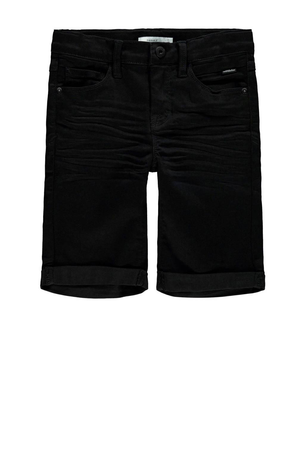 NAME IT KIDS jeans bermuda Sofus zwart, Zwart
