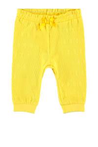 NAME IT BABY baby broek Florina met biologisch katoen geel, Geel