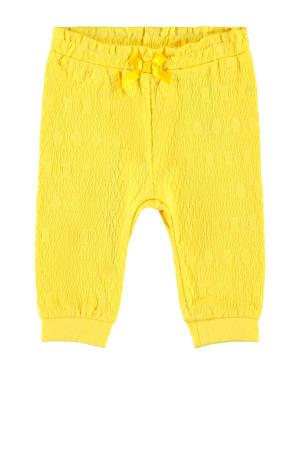 baby broek Florina met biologisch katoen geel