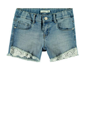 short Salli light denim