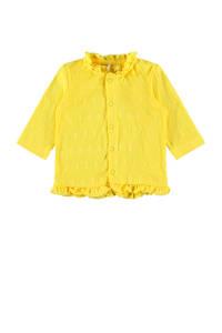 NAME IT BABY baby vest Florina met biologisch katoen geel, Geel