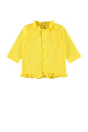 baby vest Florina met biologisch katoen geel