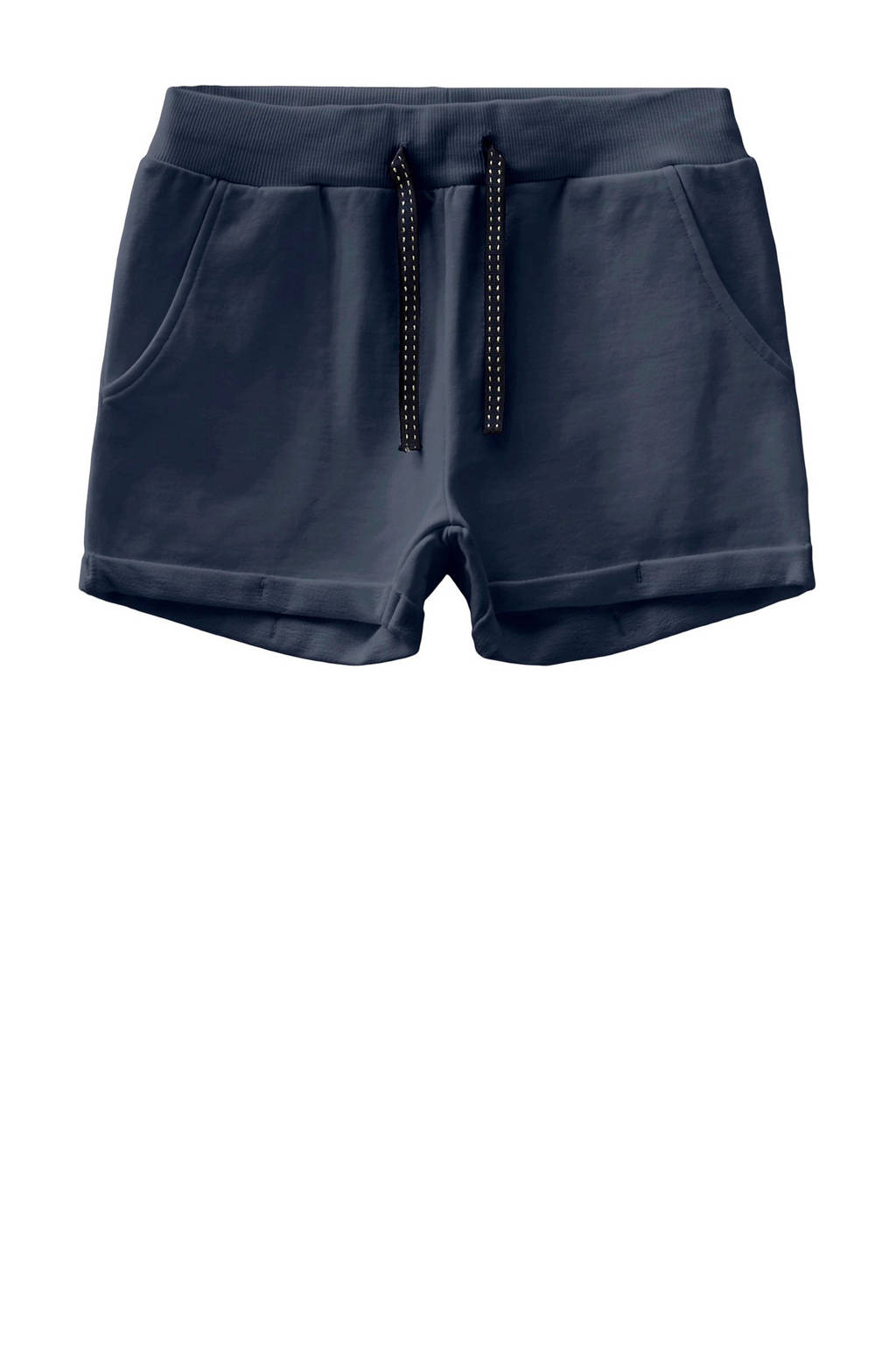 NAME IT KIDS high waist sweatshort Volta donkerblauw, Donkerblauw