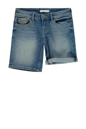 jeans bermuda Sofus met biologisch katoen stonewashed