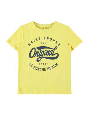 T-shirt Fike met biologisch katoen geel