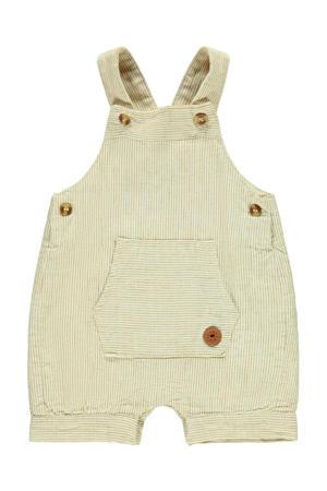 baby tuinbroek Fasan met linnen beige