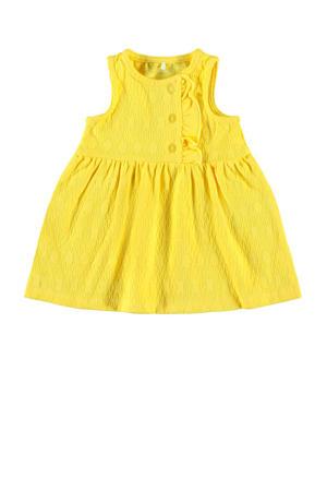 jersey jurk Florina met biologisch katoen geel