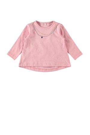 baby top Franka met biologisch katoen roze