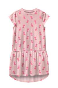 NAME IT MINI jersey jurk Vigga van biologisch katoen lichtroze, Lichtroze