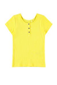 NAME IT KIDS T-shirt Flouri met biologisch katoen geel, Geel
