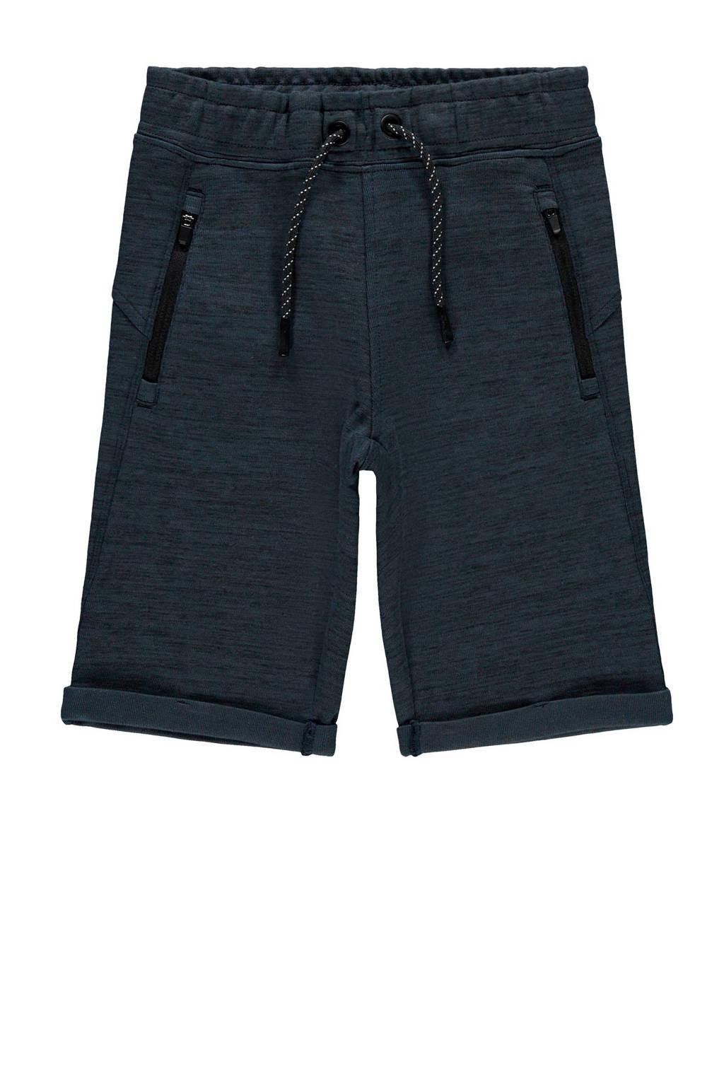NAME IT KIDS gemêleerde sweatshort Scott donkerblauw, Donkerblauw