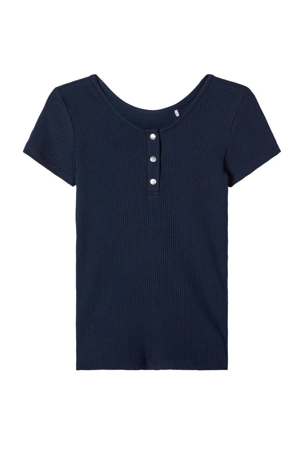 NAME IT KIDS T-shirt Flouri met biologisch katoen donkerblauw, Donkerblauw