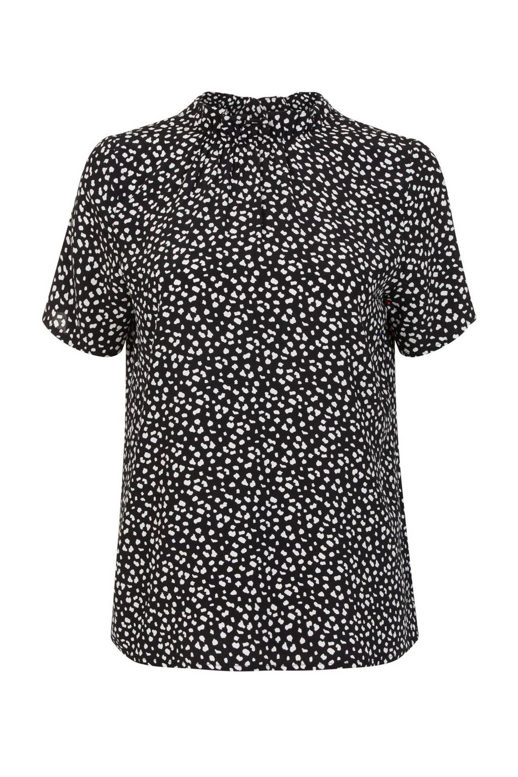 Miss Etam Regulier top met all over print zwart/wit, Zwart/wit