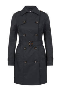 Miss Etam Regulier trenchcoat, Zwart