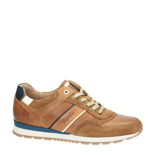 Australian Navarone leren sneakers bruin