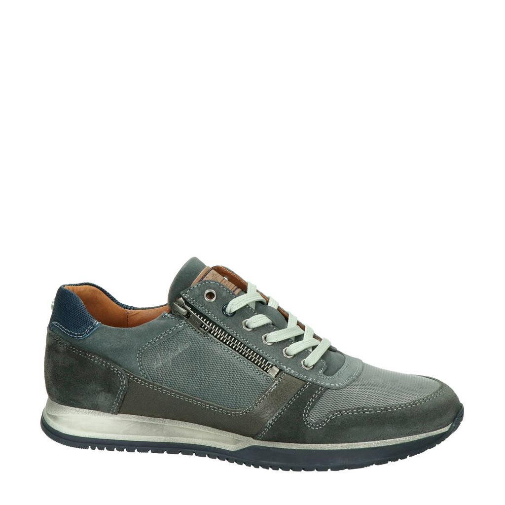 Australian Browning  leren sneakers grijs, Grijs