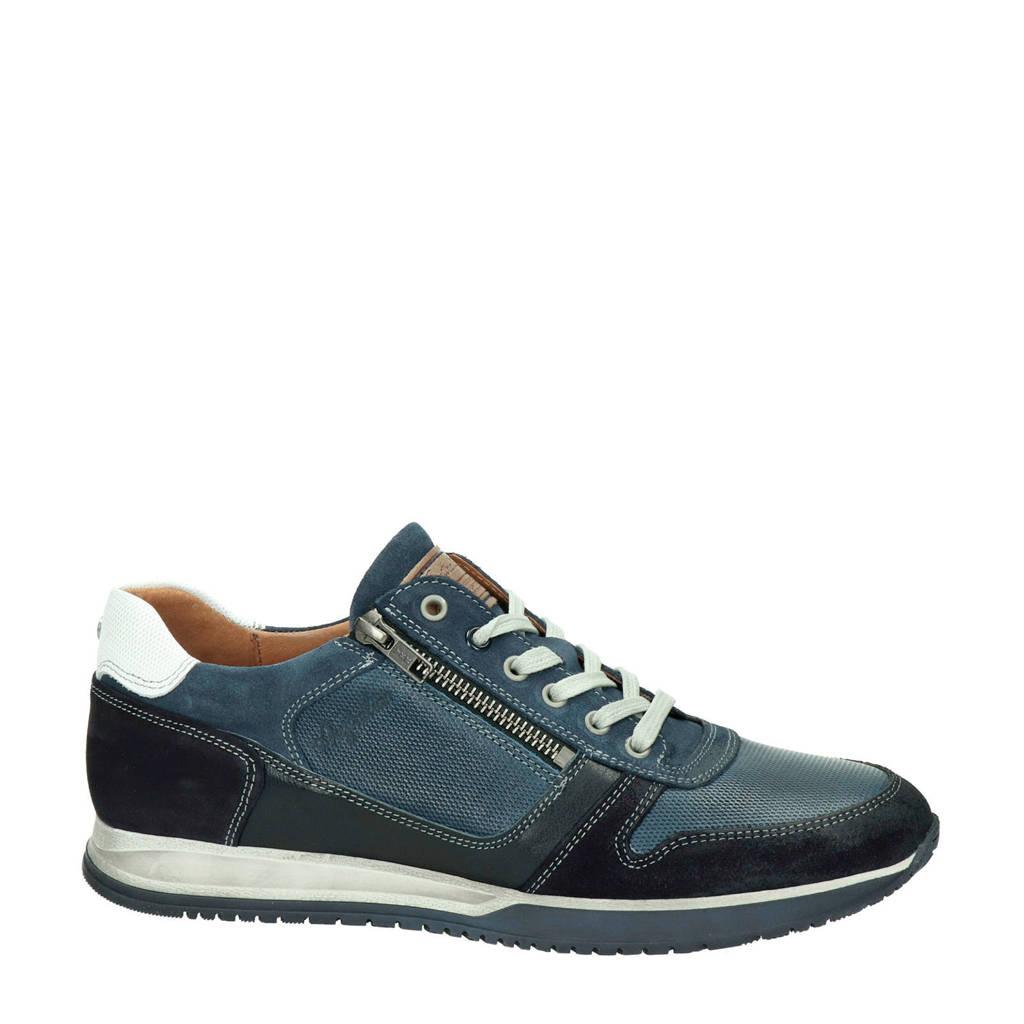 Australian Browning  leren sneakers blauw, Blauw