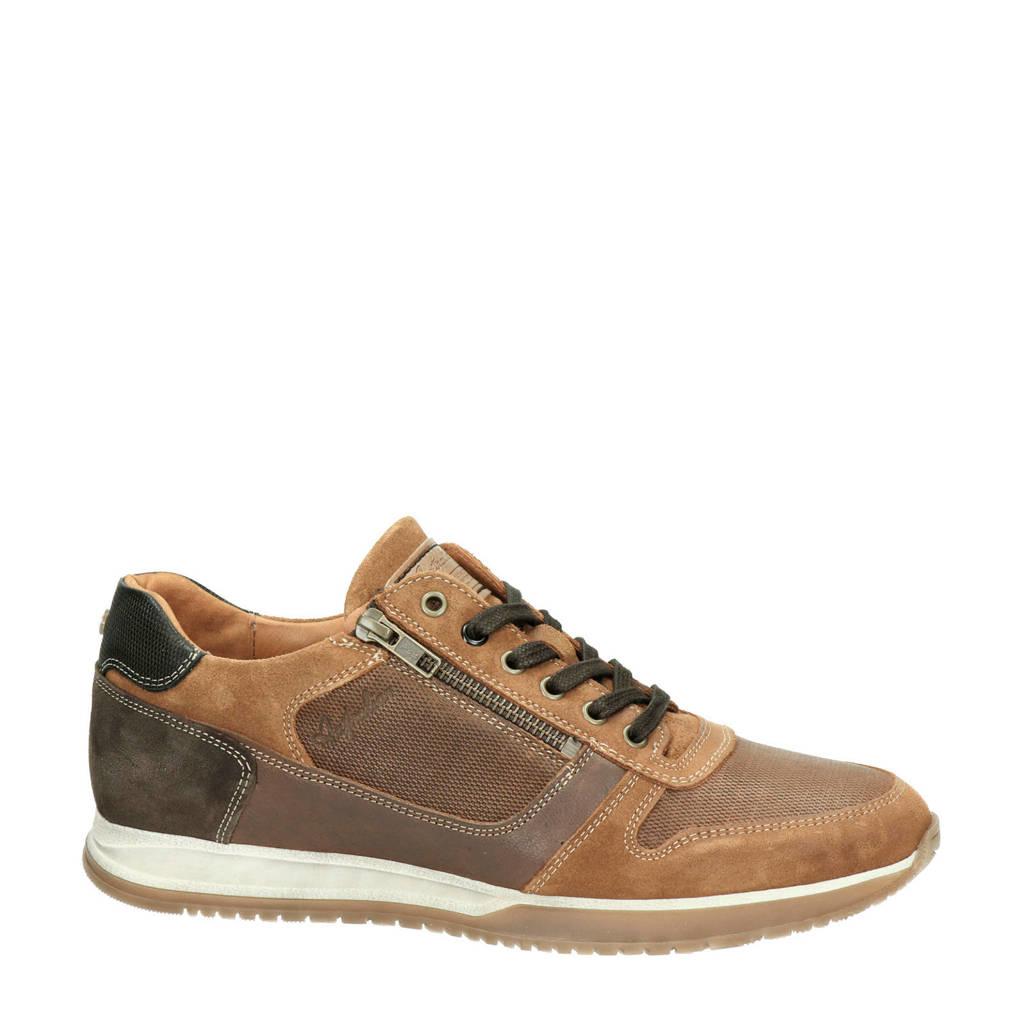 Australian Browning  leren sneakers bruin, Bruin