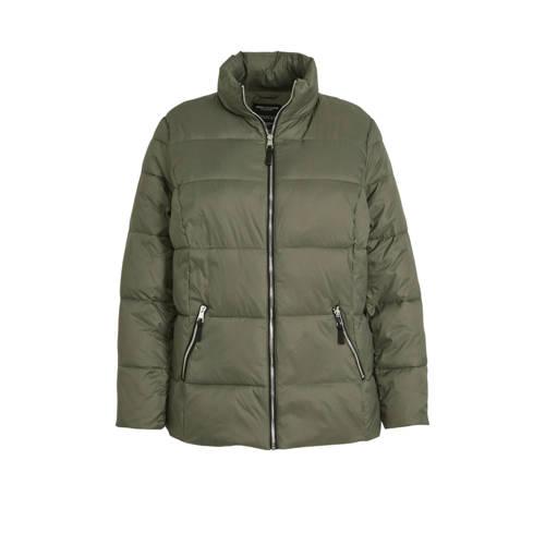 C&A XL Yessica gewatteerde jas groen