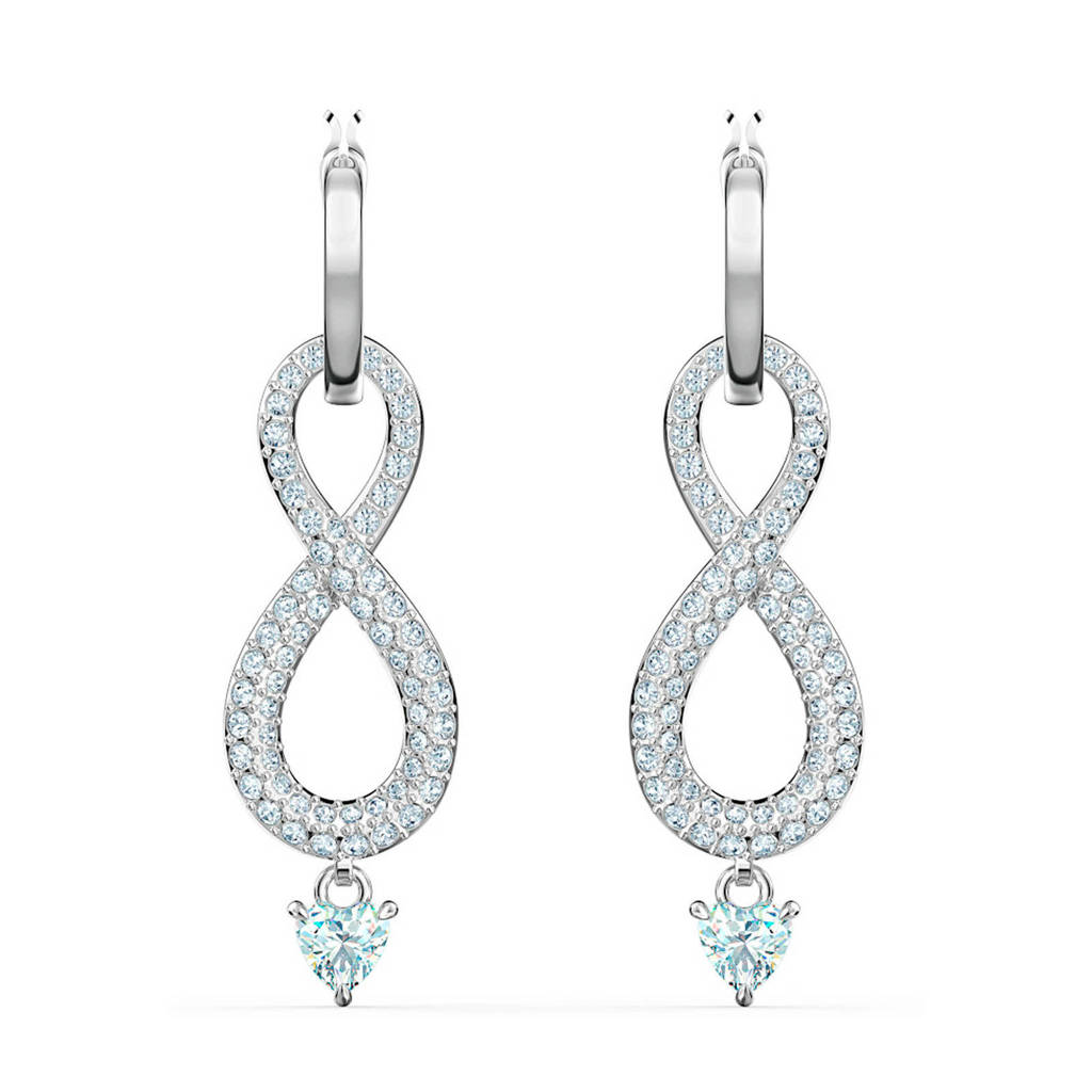 Swarovski oorbellen Infinity 5520578 zilver, Zilverkleurig