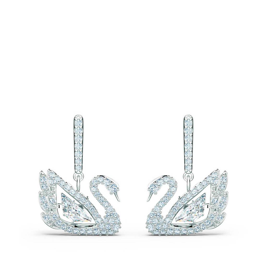 Swarovski oorbellen Dancing 5514420 zilver, Zilverkleurig