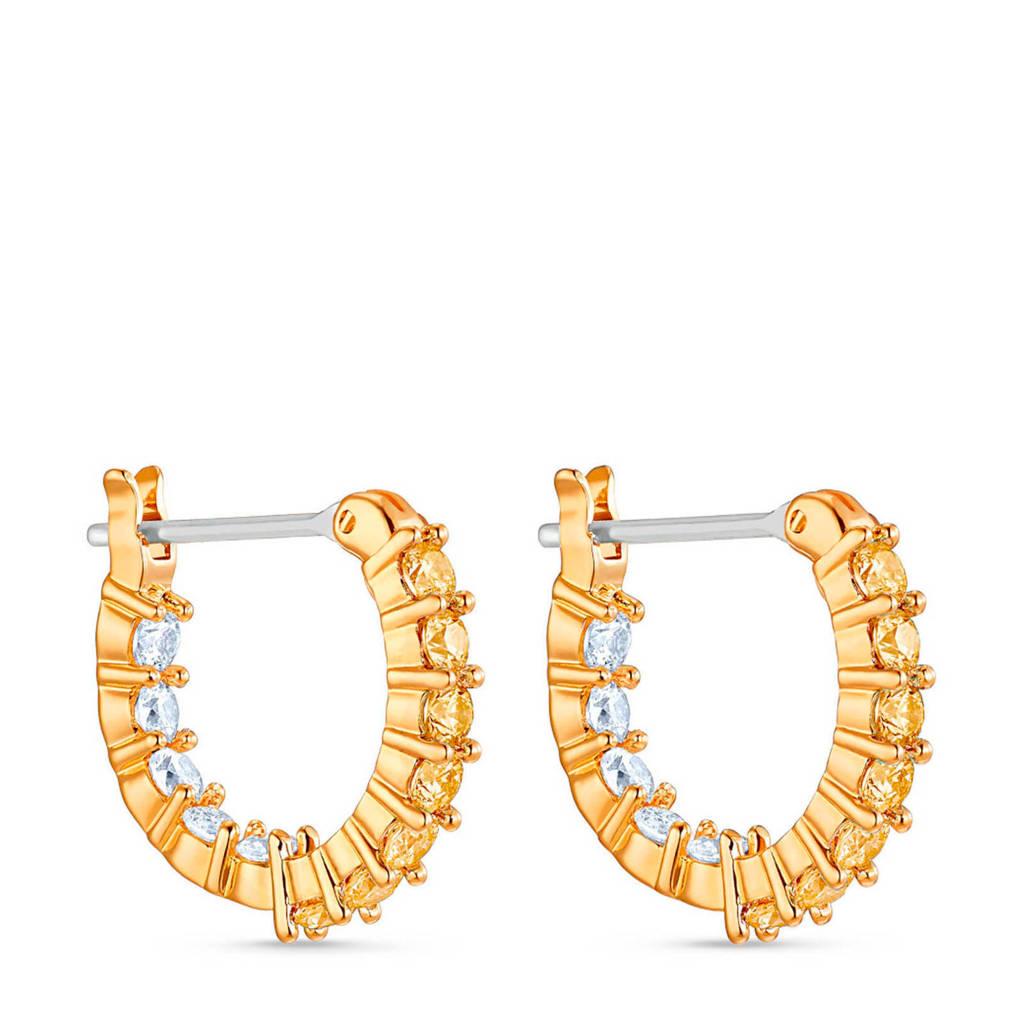 Swarovski oorbellen Vittore 5522880 goud, Goudkleurig