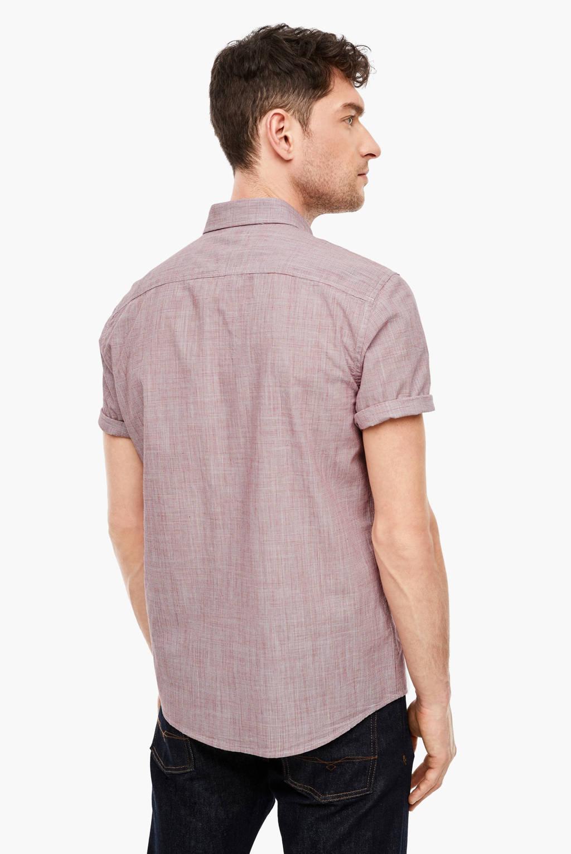 s.Oliver gemêleerd regular fit overhemd oudroze, Oudroze