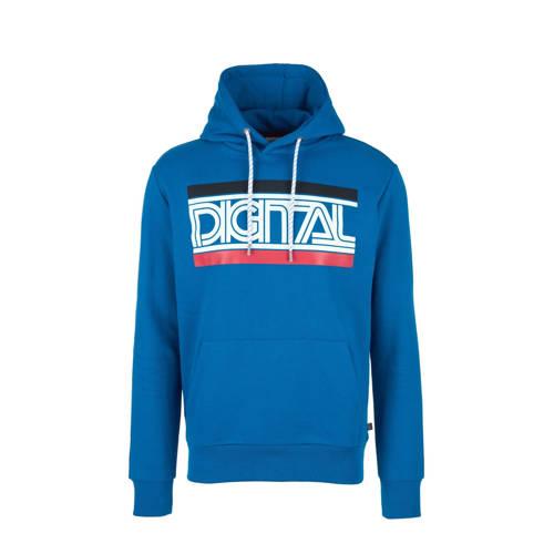 Q/S designed by hoodie met printopdruk blauw