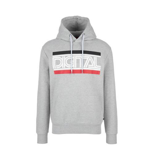 Q/S designed by hoodie met printopdruk grijs