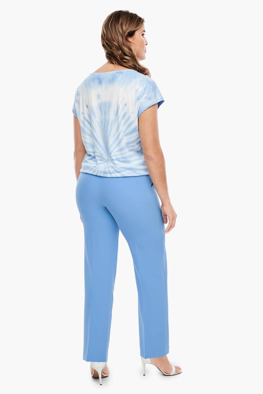 TRIANGLE straight fit pantalon blauw, Blauw