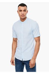 Q/S designed by slim fit overhemd met all over print lichtblauw, Lichtblauw