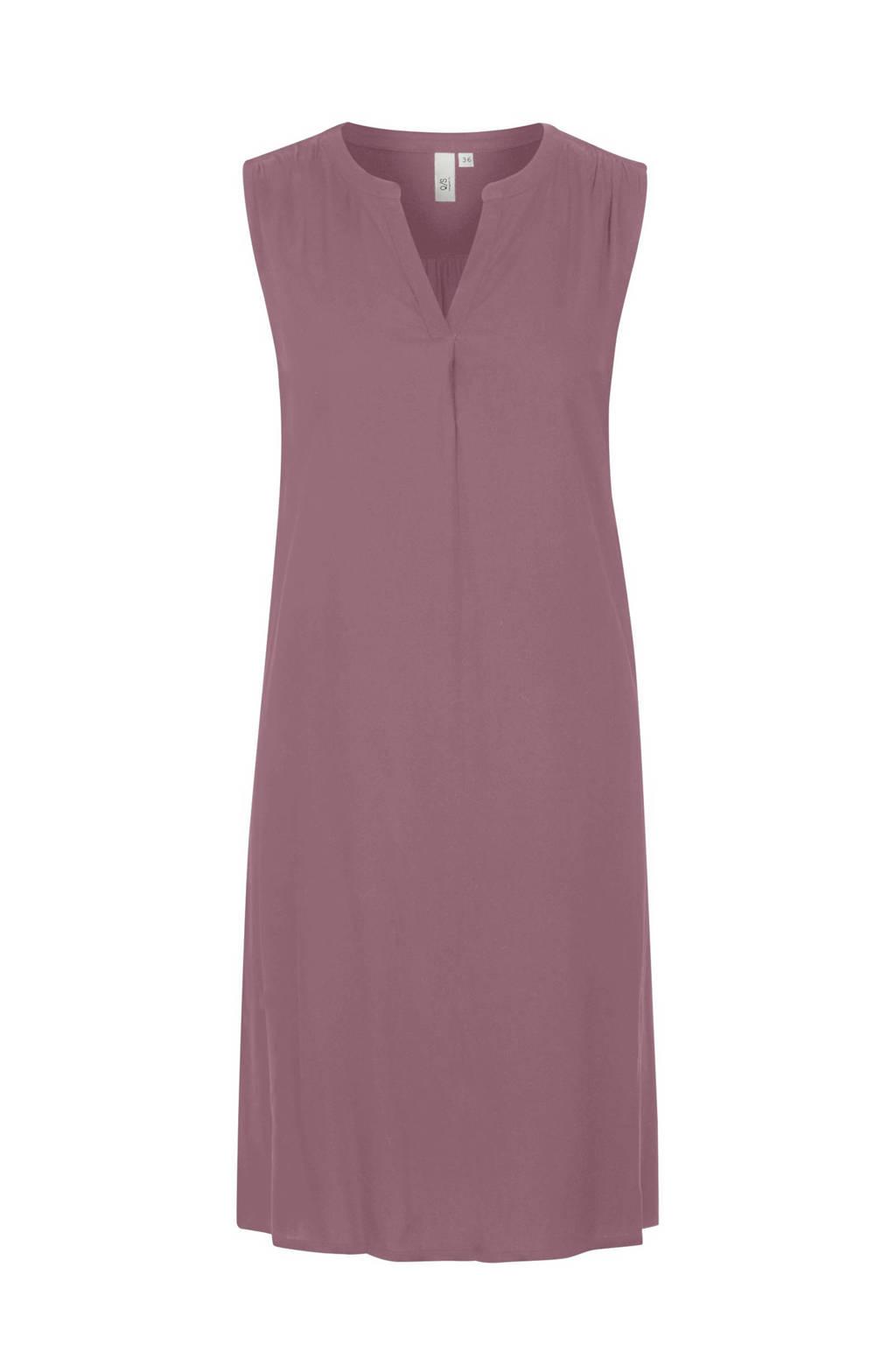 Q/S designed by jersey jurk met plooien oudroze, Oudroze