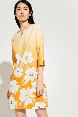 gebloemde jurk geel/oranje