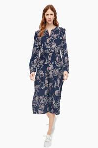 s.Oliver jurk met all over print blauw, Blauw