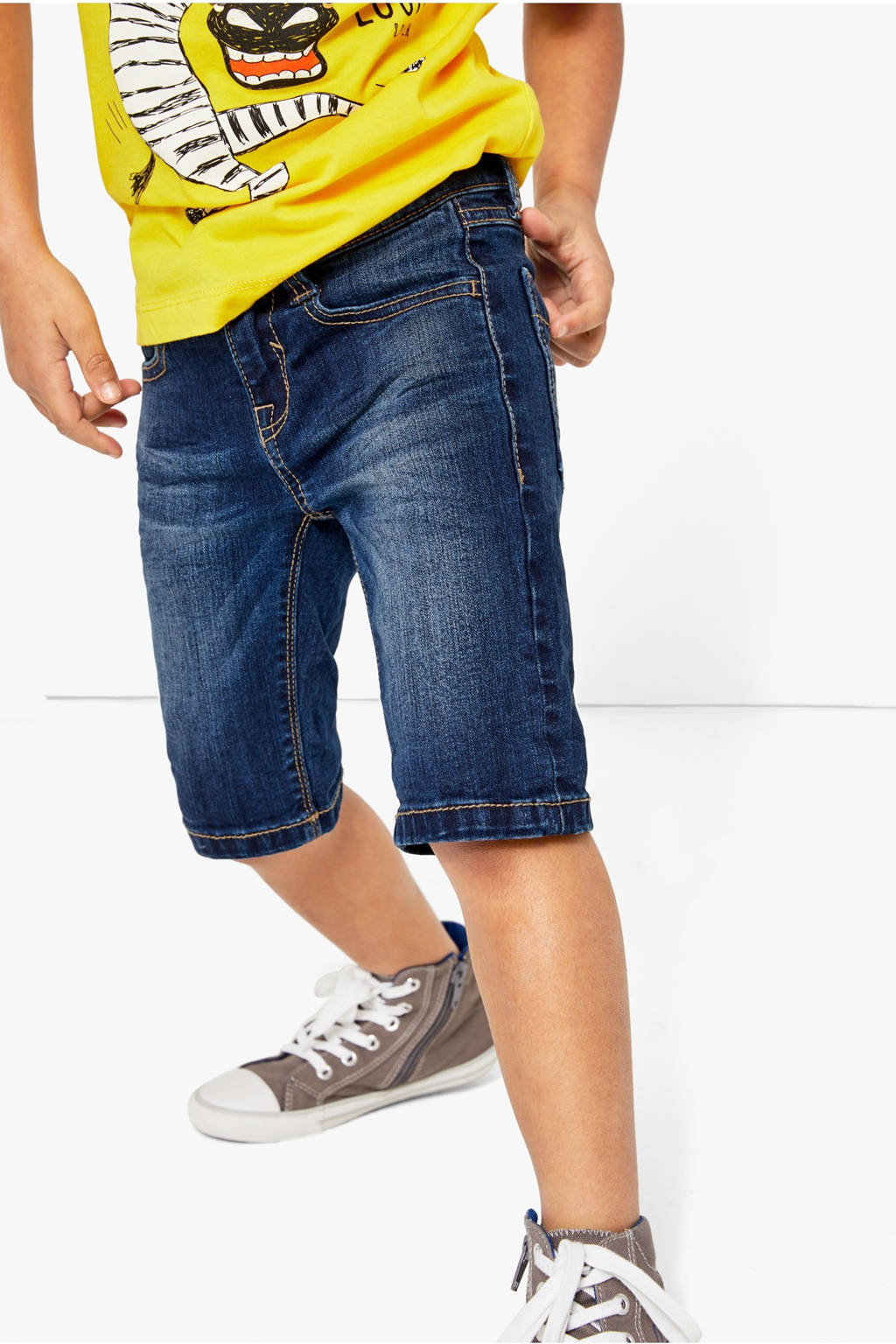 s.Oliver slim fit jeans bermuda stonewashed, Stonewashed