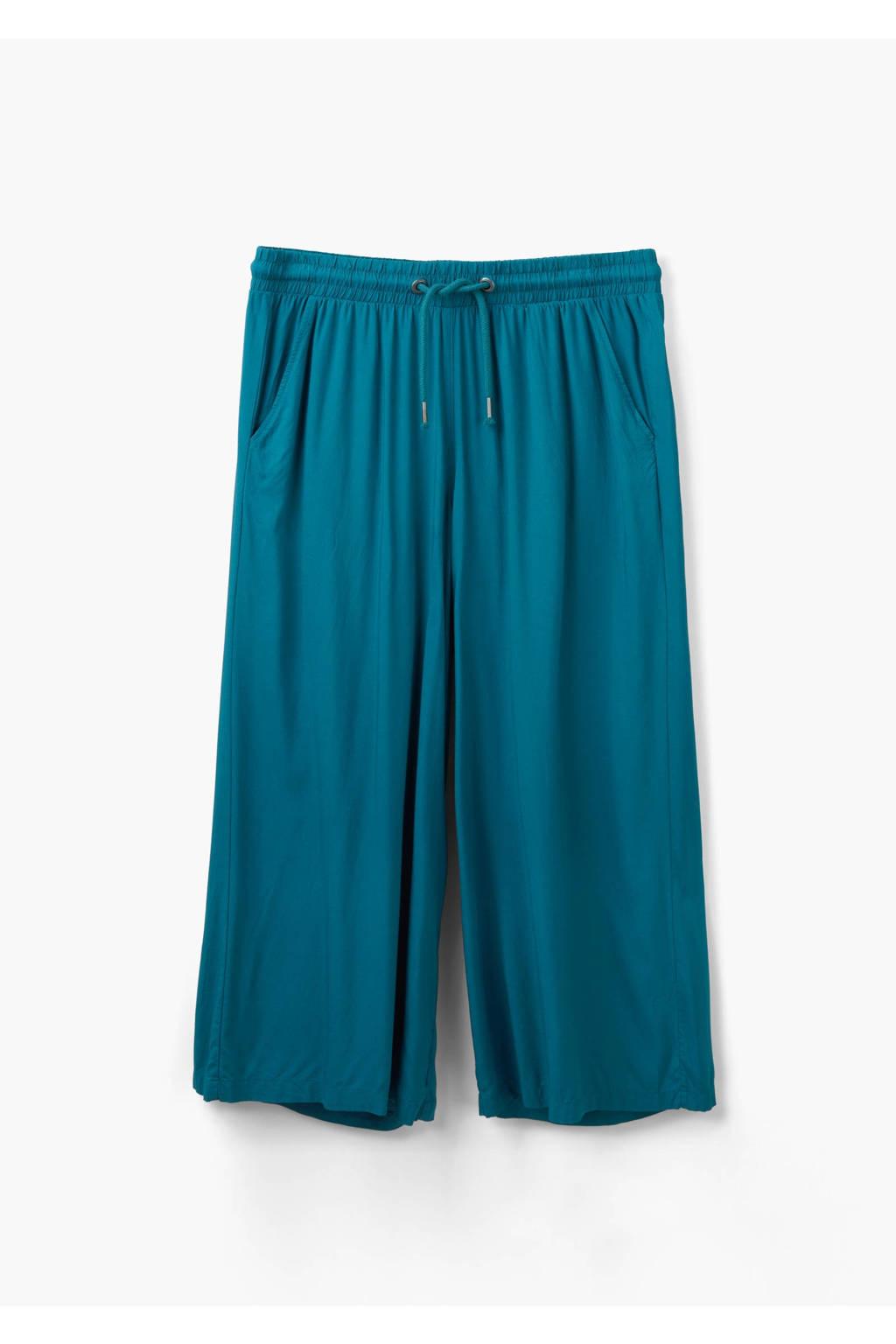 Q/S designed by high waist culotte blauw, Blauw