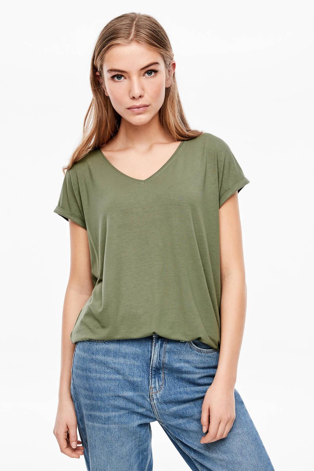 Q/S designed by T-shirt groen, Groen