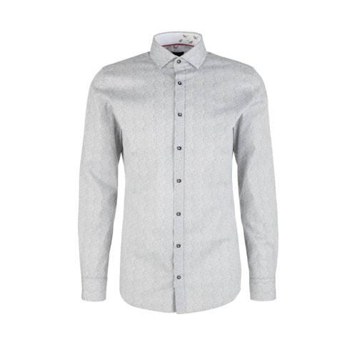 s.Oliver BLACK LABEL slim fit denim overhemd met a