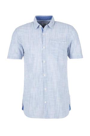 gestreept regular fit overhemd blauw/wit