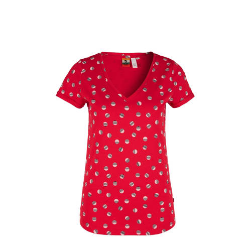 Q/S designed by T-shirt met all over print rood
