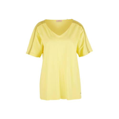 TRIANGLE top met glitters geel