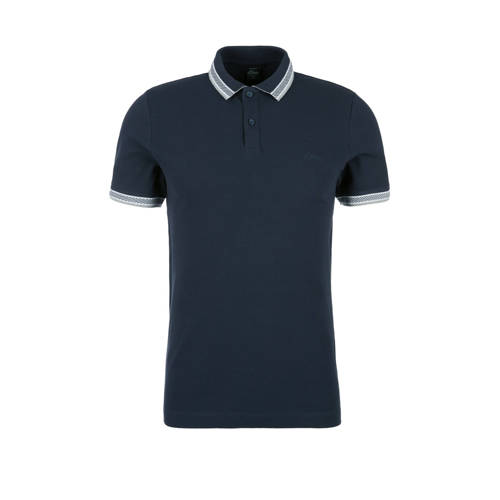 s.Oliver slim fit polo blauw