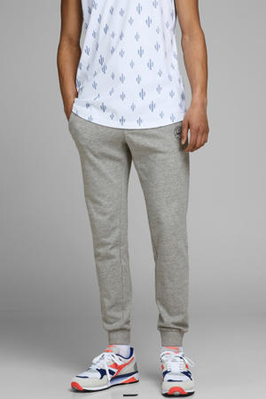 regular fit joggingbroek light grey melange