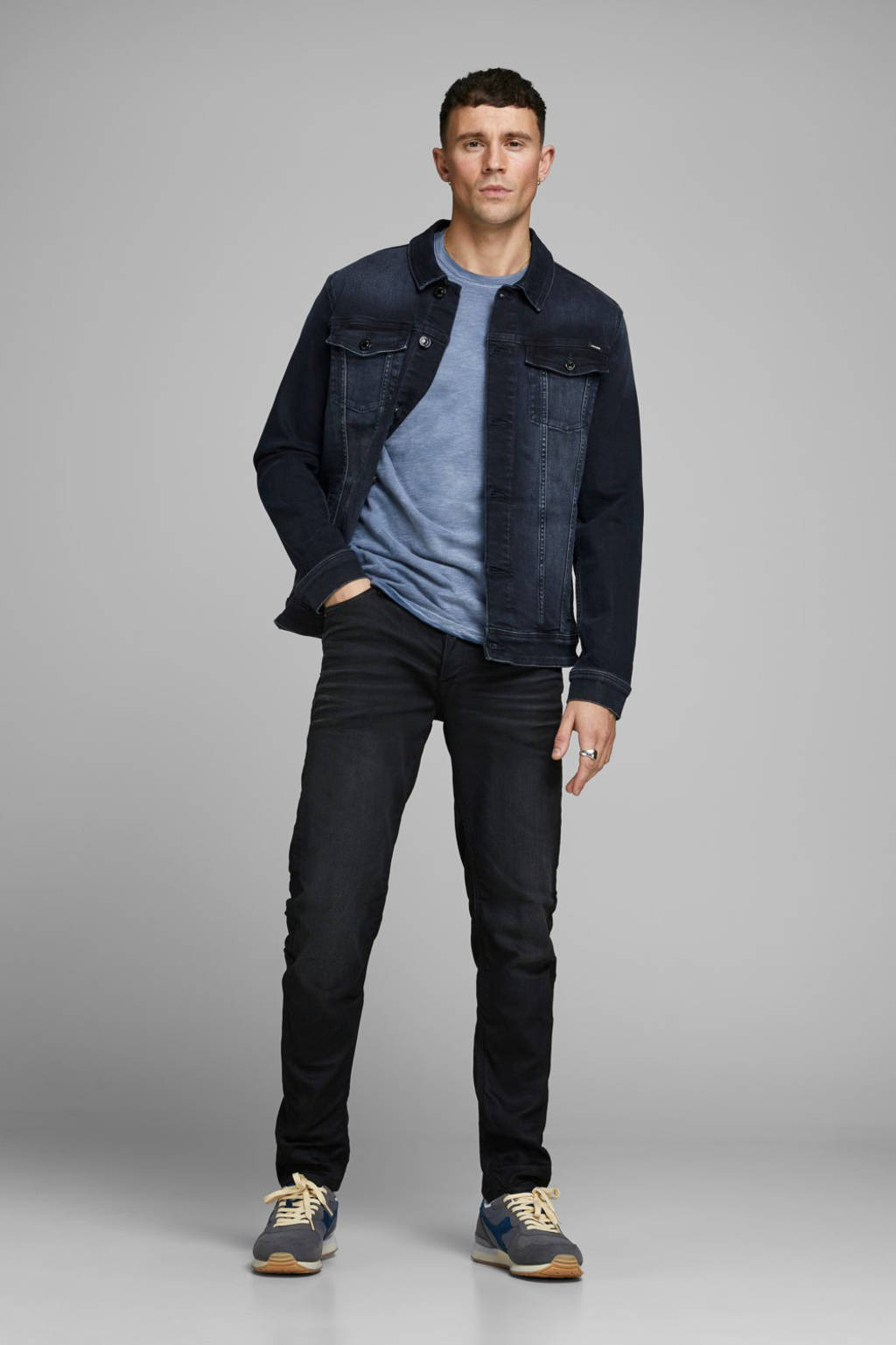 JACK & JONES JEANS INTELLIGENCE spijkerjas blue denim, Blue denim