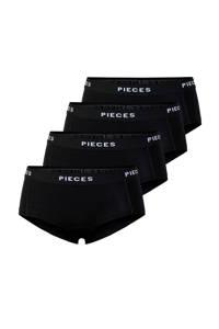 PIECES short (set van 4) zwart, Zwart