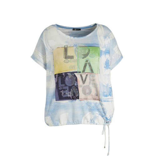 No Secret T-shirt met printopdruk lichtblauw